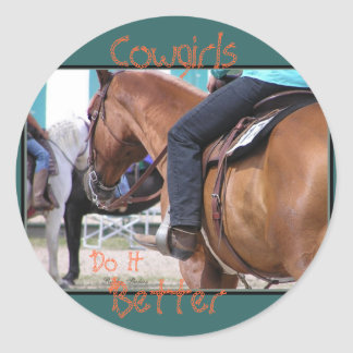 Cowgirls Do It Better Stickers