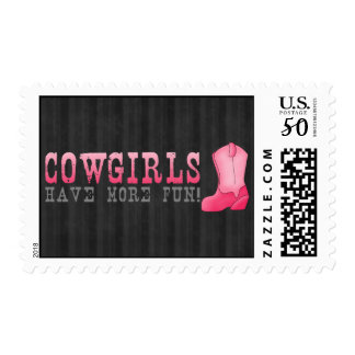 Cowgirls Have More Fun Postage