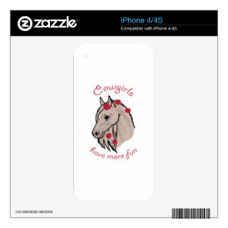 Cowgirls Have More Fun Skins For iPhone 4S