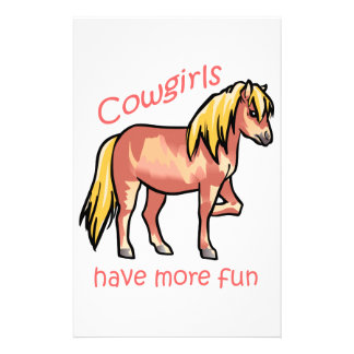 Cowgirls Have More Fun Stationery