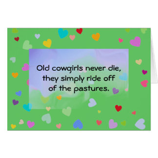 cowgirls humor card