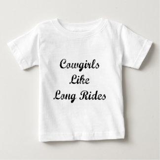 Cowgirls Like Long Rides Baby T-Shirt