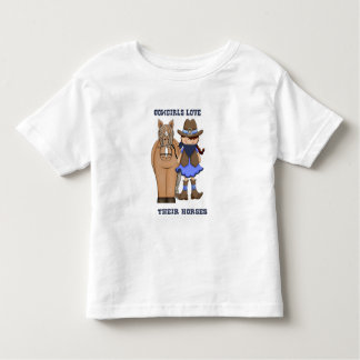 Cowgirls Love Their Horses Toddler T-Shirt