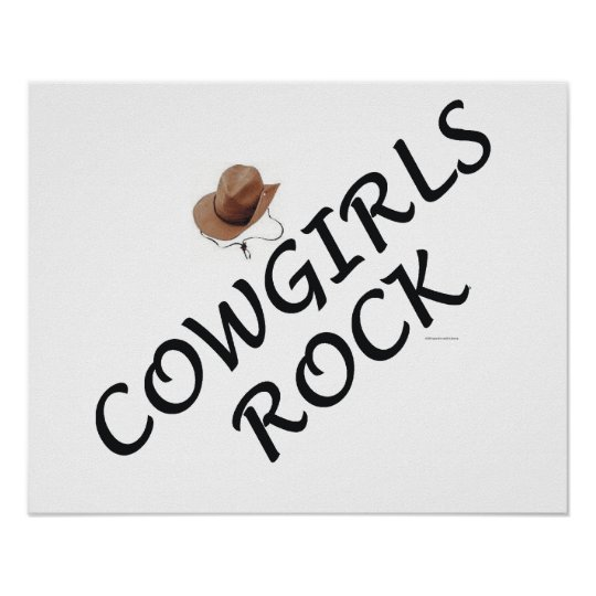 Cowgirls Rock Poster