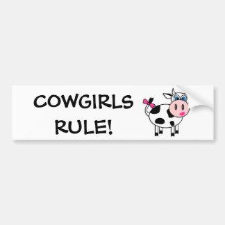 Cowgirls Rule Bumper Sticker