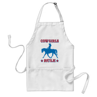 Cowgirls Rule (red/blue) Adult Apron