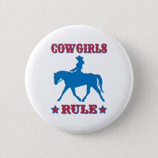 Cowgirls Rule (red/blue) Button