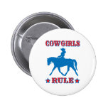 Cowgirls Rule (red/blue) Pinback Buttons