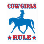 Cowgirls Rule (red/blue) Postcard