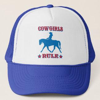 Cowgirls Rule (red/blue) Trucker Hat