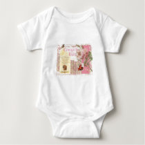 Cowgirls Rule Western Horse Cowboy Pink Collage Baby Bodysuit