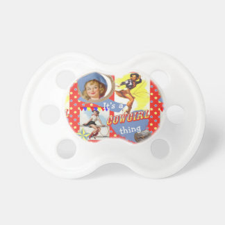 Cowgirls With Lassos Vintage Cowgirls Pacifier