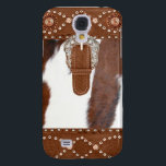 "&quot;Cowhide and Leather&quot; Western IPhone 3  Case<br><div class=""desc"">Cowhide and Leather image accents IPhone 3 Case</div>"
