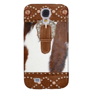 """Cowhide and Leather"" Western IPhone 3  Case"