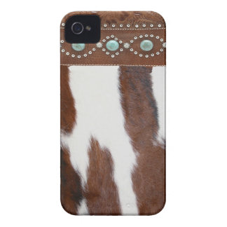 """""""Cowhide and Turquoise"""" Western Blackberry Case"""