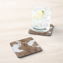 Cowhide Beverage Coaster