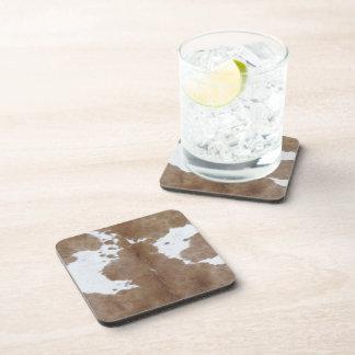 Cowhide Beverage Coaster