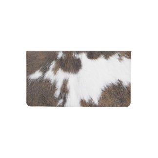Cowhide. Checkbook Cover