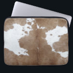 "Cowhide Computer Sleeve<br><div class=""desc"">Rustic texture and pattern of cowhide</div>"