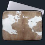 """Cowhide Computer Sleeve<br><div class=""""desc"""">Rustic texture and pattern of cowhide</div>"""