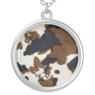 Cowhide Design Sterling Silver Necklace Pendent
