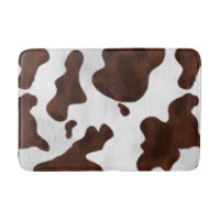 Cowhide Faux Hair Western Leather Spotted Pattern Bath Mat