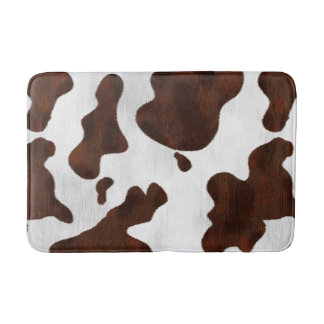 Cowhide Faux Hair Western Leather Spotted Pattern Bath Mats