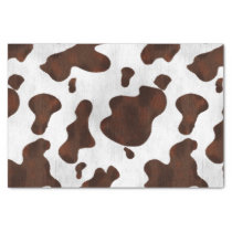 Cowhide Faux Hair Western Leather Spotted Pattern Tissue Paper