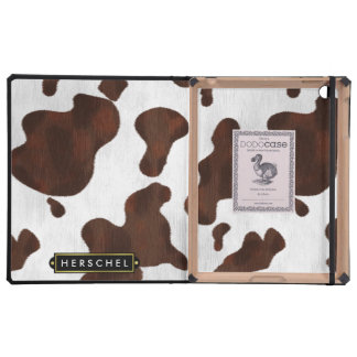 Cowhide Faux Western Leather Spotted Personalized iPad Cover