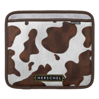 Cowhide Faux Western Leather Spotted Personalized iPad Sleeve