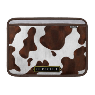 Cowhide Faux Western Leather Spotted Personalized MacBook Sleeves