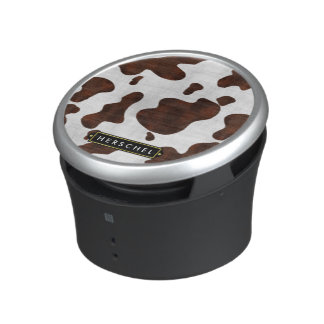 Cowhide Faux Western Leather Spotted Personalized Speaker