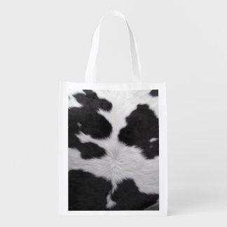 Cowhide Grocery Bag