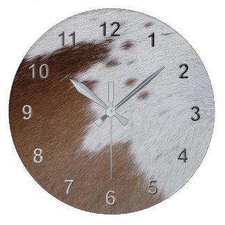 Cowhide Large Clock
