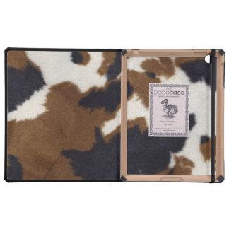 Cowhide Leather Print DoDo iPad 2/3 Case iPad Folio Case