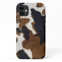 Cowhide Leather Print Pattern iPhone 5 iPhone 11 Case