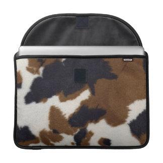 Cowhide Leather Print Rickshaw Macbook MacBook Pro Sleeves