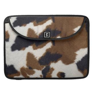 Cowhide Leather Print Rickshaw Macbook Sleeve For MacBook Pro