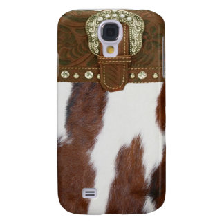 """""""Cowhide & Leather"""" Western IPhone 3 Case"""