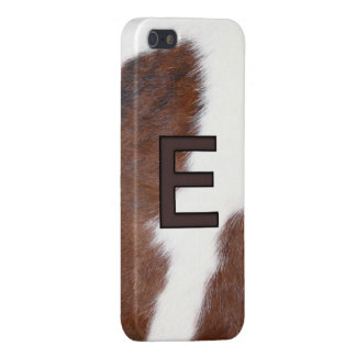 Cowhide Livestock E Initial Brand Iphone 5 Case
