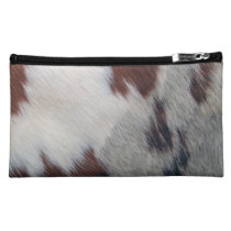 Cowhide Makeup Bag