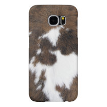 Cowhide Patch Samsung Galaxy S6 Case