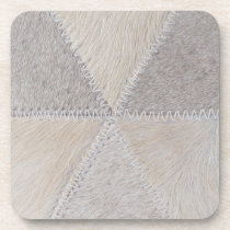 Cowhide Patchwork Beverage Coaster