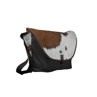 Cowhide Small Messenger Bag
