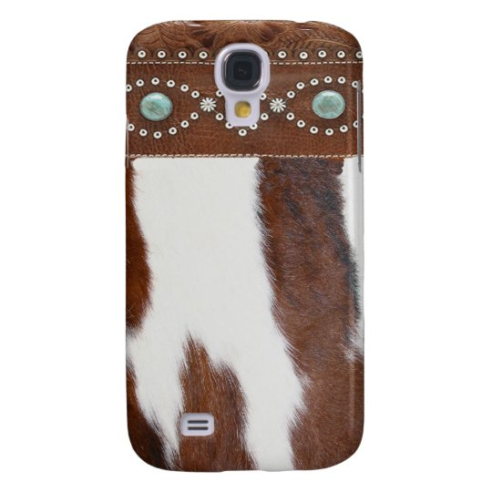 """""""Cowhide & Turquoise"""" Western IPhone 3 Case"""