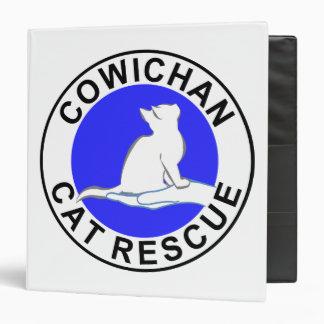 Cowichan Cat Rescue logo 3 Ring Binder