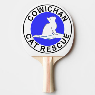 Cowichan Cat Rescue logo Ping-Pong Paddle