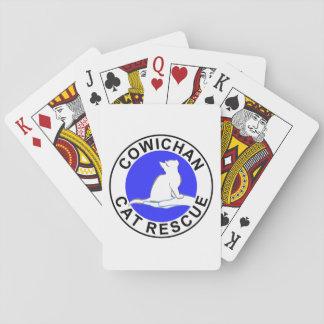 Cowichan Cat Rescue logo Playing Cards