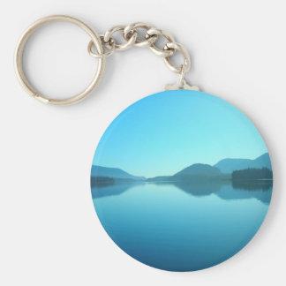 Cowichan in Blue Basic Round Button Keychain
