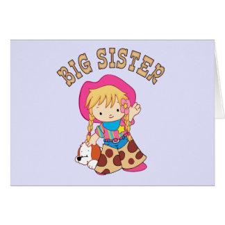 Cowkids Big Sister Greeting Cards